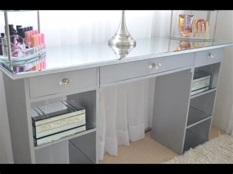 Vanity Organizer Ideas diy mirrored vanity youtube