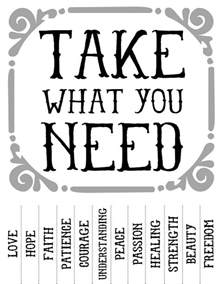 take what you need template reboscraps take what you need