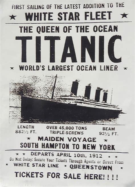 Vintage French Home Decor titanic vintage poster photograph by melinda saminski