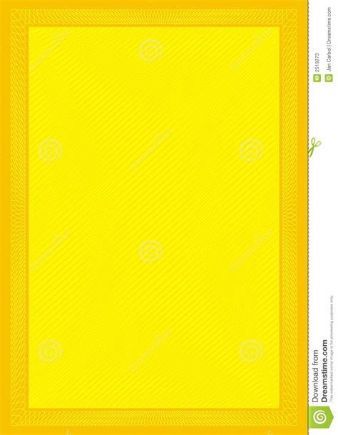 Rainbow Yellow Kuning secure frame yellow background stock vector image 2519273