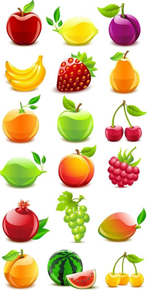 Fruit Clipart Texture Of Fruits Vector Graphics Manger Bien