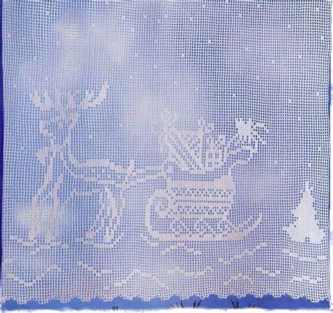 Rideau De Noel by Crochet Rideaux De Noel Le De Crochet Et Tricot D
