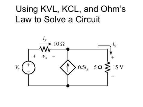 Kirchhoff Worksheet by Kvl Resistor Polarity 28 Images Lessons In Electric