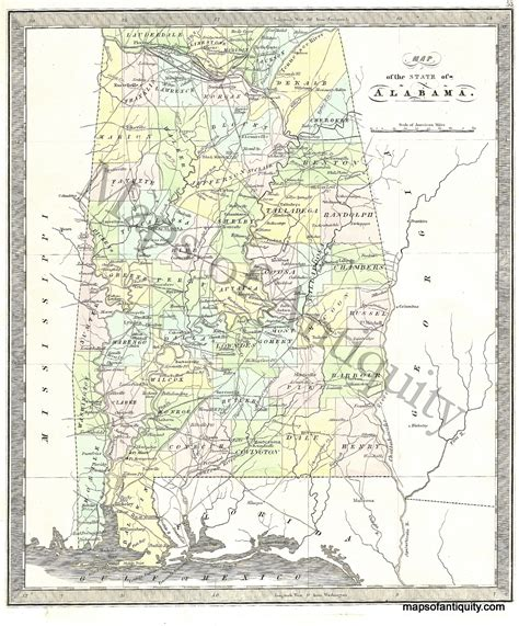 us map alabama state map of the state of alabama antique maps and charts