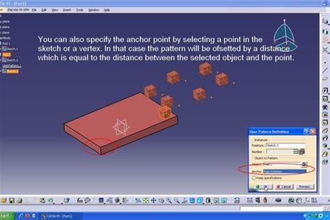 user pattern definition catia tutorial using user pattern in catia v5 grabcad