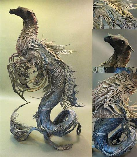 Handmade Clay Sculptures - equus hippocus original handmade ooak clay