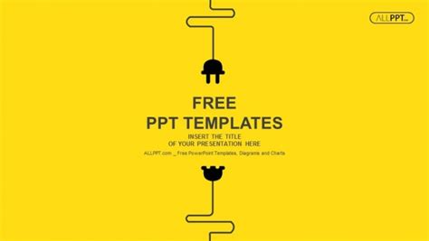 Free Abstract Powerpoint Templates Design Power Plugs Powerpoint Templates