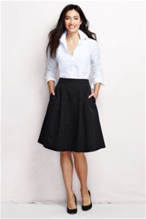 s solid woven texture skirt from lands end