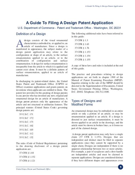 design patent guidelines a guide to filing for a design patent via uspto
