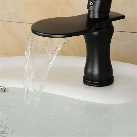 Wide Waterfall Faucet by Wide Waterfall Rubbed Bathroom Sink Faucet