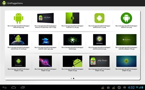 android gridview gridview pager horizontal gridview gridview with viewpager in android android tutorial code