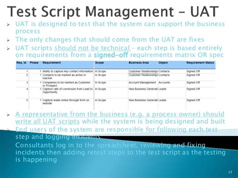 great uat test script template ideas resume ideas