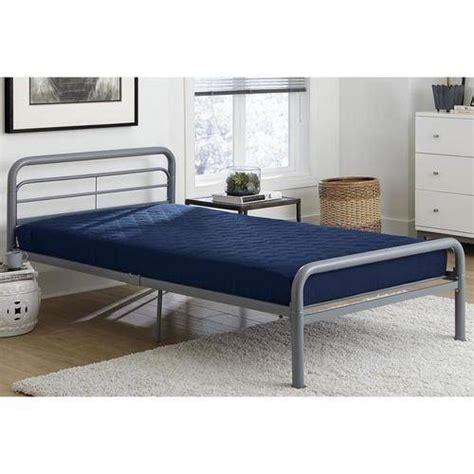 bunk bed mattresses 6 quot quilted top bunk bed mattress navy walmart