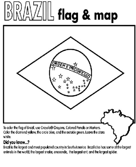 coloring page map of brazil brazil coloring page crayola com