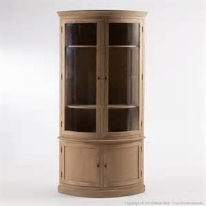 vitrine d angle en ch 234 ne avec 2 portes longueur 110cm