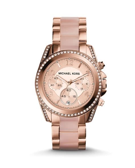 michael kors light pink watch fossil rose gold watches for women