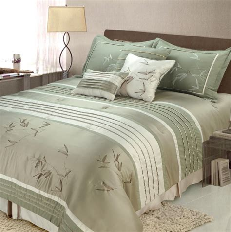 sage comforter sets 7pc sansei sage embroidered comforter set full queen ebay