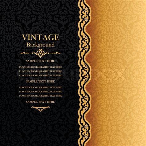 Vintage Photo Card Template by Vintage Background Antique Greeting Card Invitation With