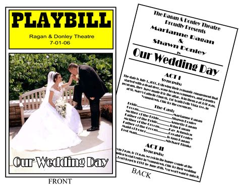 playbill wedding invitation template 26 images of theater playbill play template infovia net