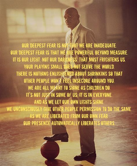 film love coach our deepest fear is not that we are inadequate our