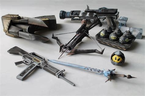 papercraft weapons templates chaosut papercraft by metalfist0 on deviantart