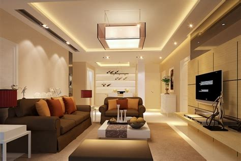 livingroom com 3d rendering warm living room interior design