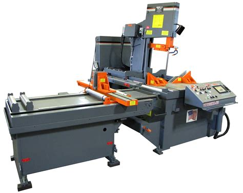 Hem Sw automatic vertical band saw has a user friendly touch screen