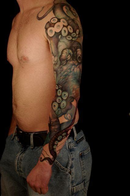 realistic octopus tattoo realistic octopus on whole arm tattooimages biz
