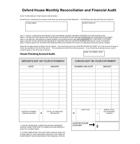 financial audit template 17 audit report templates free sle exle format