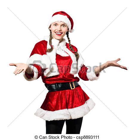 imagenes de santa claus para mujeres fotograf 237 a de archivo de mujer claus acogedor navidad