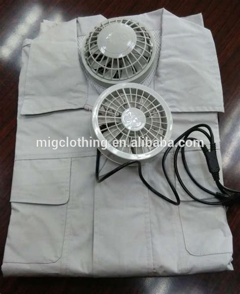 fan that works with battery air condition work clothes with rechargeable battery and