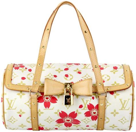 louis vuitton papillon  cherry blossom murakami white