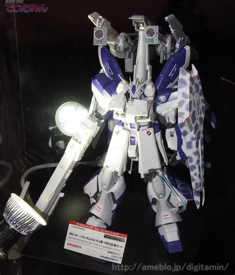 Hi Nu Gundam Hws P Bandai p bandai mg 1 100 hi nu gundam ver ka heavy weapon system hws on display at c3 x hobby 2014