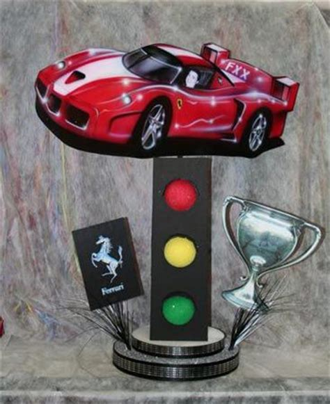 race car centerpiece by life o the party mazelmoments