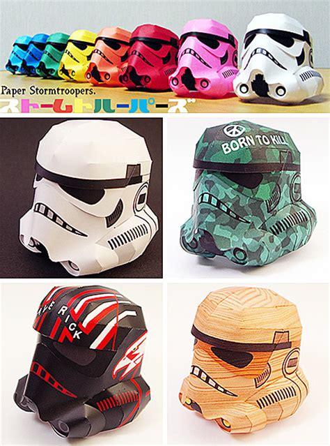 Stormtrooper Papercraft Helmet - 12 most creative papercraft artworks papercraft paper