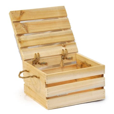 lada legno wooden storage box with lid small the lucky