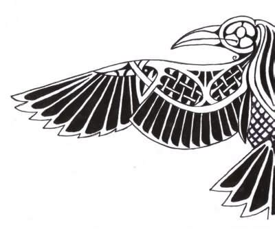 12 amazing norse raven tattoo designs