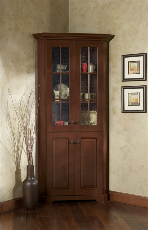 Hutch With Glass Doors Corner Cabinet With Glass Doors Homesfeed