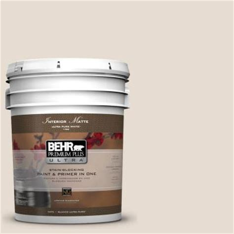 behr premium plus ultra 5 gal pwn 62 tuscan beige flat matte interior paint 175005 the home