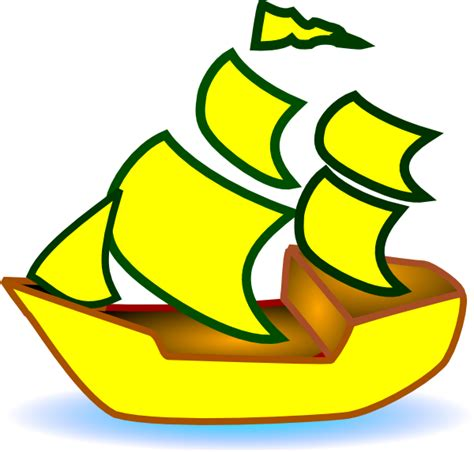cartoon with boat in space yellow boat clip art at clker vector clip art online