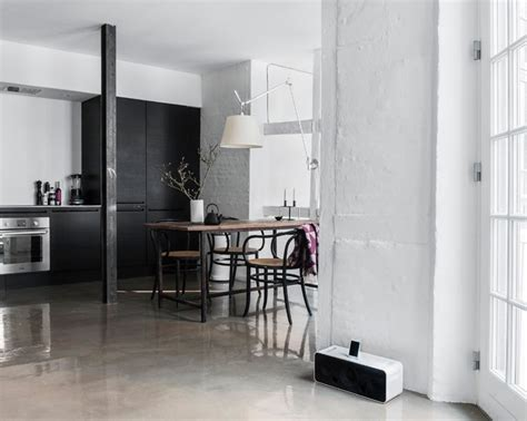 concrete floor apartment cococozy glossy concrete floors in small copenhagen apartment