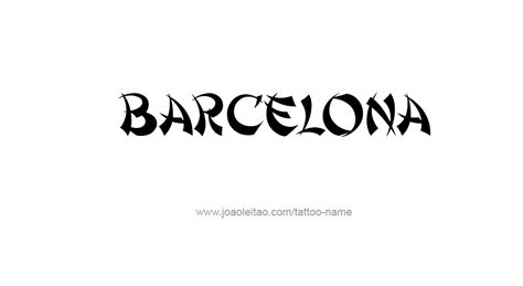 barcelona tattoo designs images