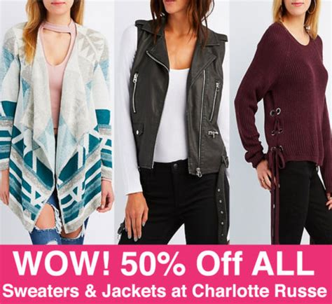 Charlotte Russe Gift Card At Walmart - hot 50 off all sweaters jackets up to 60 off sale at charlotte russe