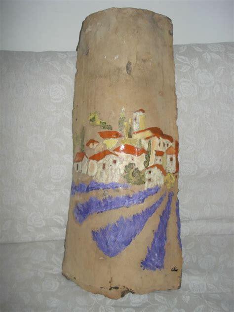 Peindre Des Tuiles En Terre Cuite by Tuiles Peintes Peinture Sur Tuiles 3 Calinquette