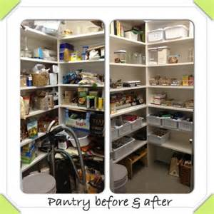 before and after organizing pantry organizing before after home pinterest
