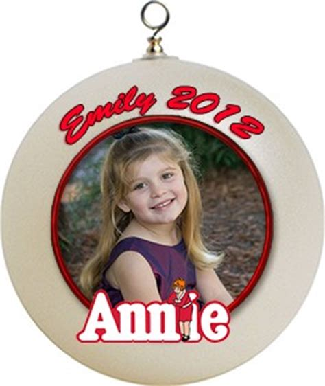 personalized photo orphan annie christmas ornament