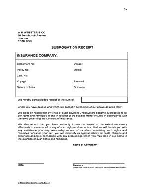 Insurance Receipt Template by Acknowledgement Of Receipt Of Payment Forms And Templates