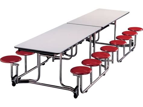 Cafeteria Tables With Stools by Uniframe Mobile Cafeteria Table 16 Stools Chrome Frame