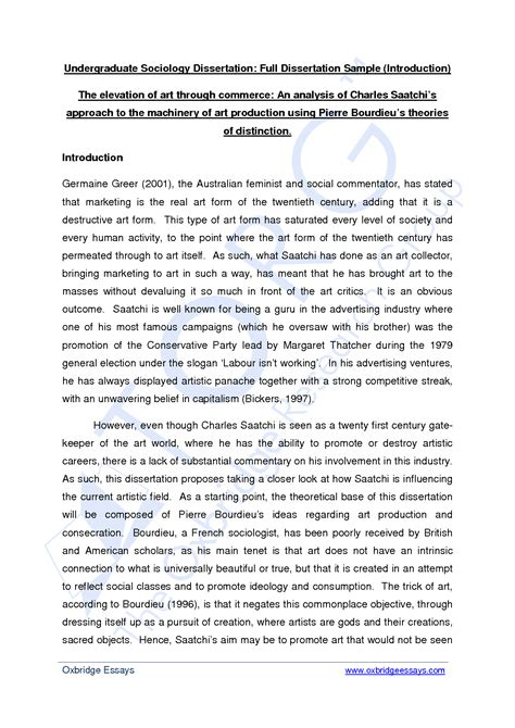 exle of a dissertation how to write a introduction for a dissertation