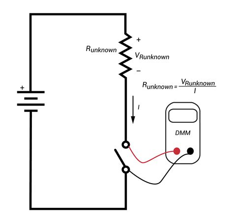 do resistors current measuring resistance in circuit and out